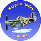 Personalised Photo Edible Spitfire Aircraft Cake Toppers