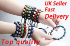 SHAMBALLA BRACELET CRYSTAL DISCO BALL BEAD PREMIUM  QUALITY Free P&P * UK Seller