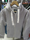 URBAN DIVA UNISEX SILVER GREY PLAIN HOODED ZIP UP HIPHOP JACKET HOODIES 16 18 20