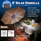 9'new Solar 40 Led Lights Patio Umbrella Garden Outdoor Sunshade Market