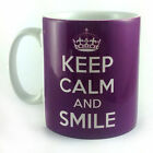 NEW KEEP CALM AND SMILE GIFT MUG CUP PRESENT CARRY ON COOL BRITANNIA RETRO FUN