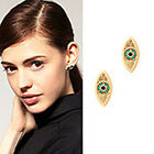 New Fashion Punk Gothix EMO Eye Stud Earrings PZX-35