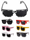 8 Bit Pixel Retro Pixelated Style Square Sunglasses Geek Nerd Novelty Glasses