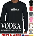 VODKA Just like water T-shirt Singlet Men's Women's Ladies Funny slogan tee top