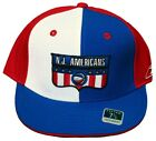 New! N.J. Americans Fitted Flatbill Embroidered Cap - ABA