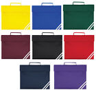 Quadra Book Bag A4 School Bag Satchel Briefcase in 8 Colours FAST POST
