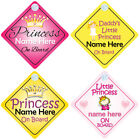 Princess on Board Personalised Girl Baby/Child Car Sign - Choice of designs
