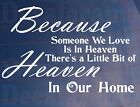 HEAVEN IN OUR HOME Kitchen/Room/Cupboard/Door/Wall Art Sticker Extra Small Size