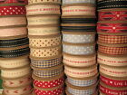 Large Fabric Ribbon Reel 3m Metres Roll Retro Vintage Style East Of India