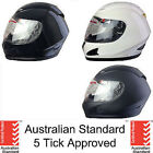 NEW FULL FACE MOTORCYCLE HELMET ADULT SIZES MOTOR BIKE ROAD DRAG RACING SPEEDWAY
