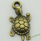 D22 Wholesale Zinc Alloy Bronze Pendant Mini Lucky Animal Tortoise Charms 18.3mm