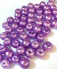 Purple Glass Pearl Beads 4mm, 6mm, 8mm, 10mm choose your size, multi choice