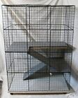 Rabbit cage Indoor BIG BUNNY & CAT Condo deluxe hutch pet pen w/ carpeted floors