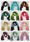 Women's Fashion Gradient Wrap Lady Shawl Stole Silk Chiffon Scarf Soft Wrinkled