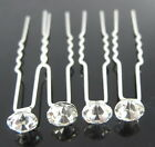 6 10 20pcs 7 Colors Swarovski Crystal  Wedding Bridal Hair Pin Hairpin Clips