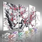 Chinese Trees and Birds Offset Canvas Print Large Picture Wall Art