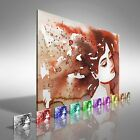 Abstract Sleeping Woman Canvas Print Large Picture Wall Art