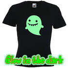 Glow in the dark GHOSTIE HALLOWEEN funny scary t shirt  Ladies T shirt