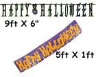 HAPPY HALLOWEEN BANNER PARTY DECORATION LETTER LASER FRINGED FOIL SIGN GARLAND