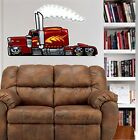 Peterbilt Big Rig Semi Truck  WALL GRAPHIC FAT DECAL MAN CAVE ROOM MURAL 9105