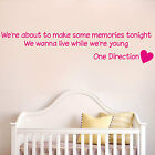 ONE DIRECTION - Live while were young - Bedroom wall sticker mural - [WQ54]