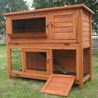 4FT+LARGE+DOUBLE+RABBIT+HUTCH+%2F+GUINEA+PIG+RUN+%2F+DELUXE+PET+HUTCHES+%2F+CAGE+PETS