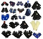 OFFICIAL FOOTBALL CLUB - KNITTED KNIT GLOVES 1 SIZE FITS ALL - NEW GIFT XMAS