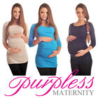 New MATERNITY SCOOP NECK TOP TUNIC Pregnancy Clothing Size 8 10 12 14 16 18 6030