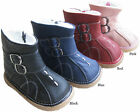 NEW 100% Soft Leather Baby / Toddler Fur Lined Boots