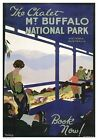 The Chalet Mount Buffalo, National Park Australia. Travel poster by J Northfield