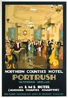 Northern Counties Hotel Portrush, NI. Vintage LMS Travel Poster by Gordon Nicoll