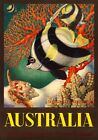 The Great Barrier Reef. Australian Vintage Travel Poster print by Eileen Mayo
