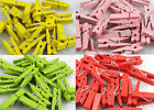 Wholesale40 100PCNew Wooden Clothespins Wood Clothes Pins Spring Clamp Style