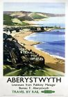 Aberystwyth, Ceredigion. British Railways Vintage Travel Poster by Claude Buckle