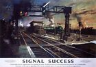 Signal Success. BR (SR) Vintage Travel Poster art print by Terence Cuneo. c1960