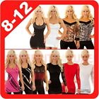New Ladies Mini Top Dress Blouse Disco Club One Shoulder Halter Spaghetti Strap