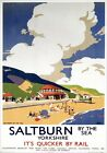 Saltburn by the sea, Yorkshire. LNER Vintage Travel Poster art by Frank Newbould