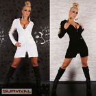 NEW SEXY SIZE 6 8 10 12 14 WOMENS HOT JACKET CLUB PARTY CASUAL DRESS WHITE BLACK