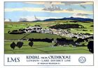 Kendal from Oxenholme, Cumbria. LMS Vintage Travel Poster by Norman Wilkinson