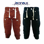 BOYS TODDLERS COLOURED DENIM CHINOS JOGGERS JEANS RED BLUE 2/3 3/4 5/6 7/8
