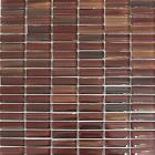 29.5x30 GTS-4869 Brown Stripe Glass Mosaic Tiles  (5 Sheets Or More)