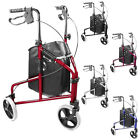 Ultra Lightweight folding 3 wheel tri walker mobility aid wheeled walking frame