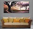 Purple Trees with light trace high quality Decorative Canvas Print Set Framed