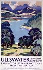 Ullswater, English Lake District Vintage Railway Travel Poster Print