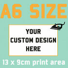 Custom Text Iron On T Shirt Transfer Your Image Photo Logo Personalised Prints <br/> Customise your t-shirts & clothing with iron ons!