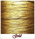 Raffia Paper Ribbon Many Colors -Gold decorating flowers gifts crafts scrapbooks