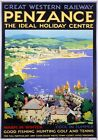 Penzance, Ideal Holiday Centre, Cornwall. GWR Vintage Travel Poster by SC Rowles