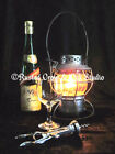 Wine with Antique Lantern Still Life Matted Picture Home Room Wall Art A235