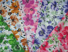 "Stunning Flower Print Polycotton Fabric 5 colours 45"" wide £3 mtr Craft Bunting"