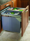 Extra Large Kitchen Waste Bin 68 Litres 500mm Unit Side Mounted Two Options NEW